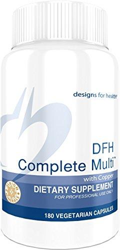 Designs for Health DFH Complete Multi with Copper - Full Spectrum Multivitamin/Multimineral with no Iron (180 - Capsules Multi Mineral 180