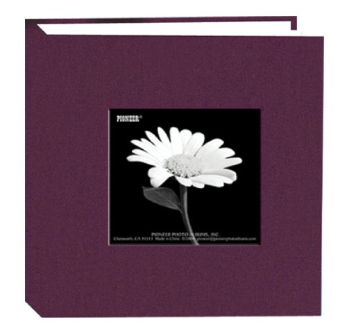 Pioneer 100 Pocket Fabric Frame Cover Photo Album, Wildberry Purple