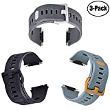for Fitbit Ionic Bands, Sports Wristbands Replacement Band for Fitbit Ionic Smart Watch Accessories Flexible Durable and Water-Resistant Classic Band,Large Pack of 3