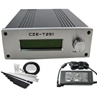 CZH CZE-T251 25w Fm Transmitter Broadcast 0-25w Power Adjustable 87-108mhz 1/4 Wave Antenna Nj Kit
