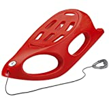 Kettler Crazy Bob Lightweight Snow Sled for Kids and Toddlers (Red)