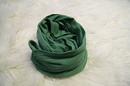 4.5 Ft Evergreen Ripple Newborn Wrap Photography Props, Faux Cheesecloth Newborn Photo Props, Baby Wrap, Newborn Props, Photography Props, Gauze, Boy Props