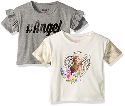 Shirt Limited Too Top - Limited Too Girls' Toddler 2 Pack Sequins Ruffle Sleeve Top, Angel Multi Color 3T