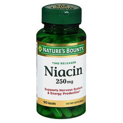 Nature s Bounty Natural Time Release Niacin 250 mg Capsules 90 ea Pack of 4