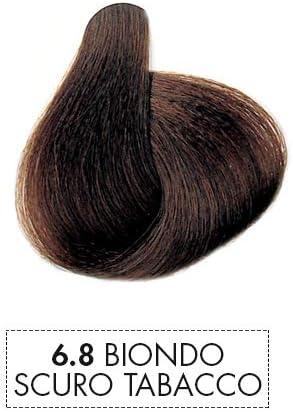 Mystic Color - Coloración en Crema Permanente con Aceite de Argán y Caléndula - Color de Pelo Duradero - Color Rubio Oscuro Tabaco 6.8 - 100 ml