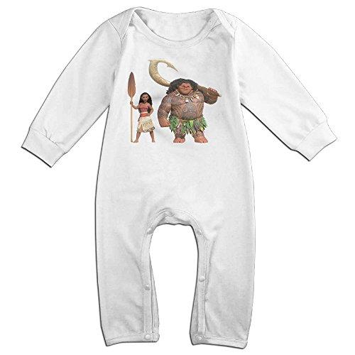 KIDDOS Baby Infant Romper Moana Long Sleeve Jumpsuit Costume,White 18 (Mechanic Costume Girl)