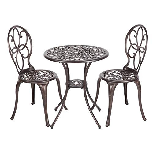 Patio Sense 63154 Danaris Bistro Set, Aged Copper