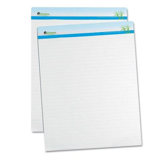 Universal 45602 Sugarcane Based Easel Pads, 1 Inch Rule, 27 x 34, White, 50 Sheets, 2/Pack by Universal