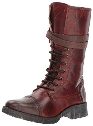 Bernie Mev Womens Fm Combat Boot Cognac
