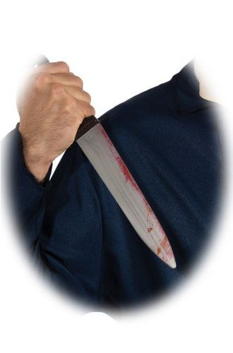 Halloween Butcher Knife (Rubie's Halloween Movie, Large Butcher Knife Multicolor, One)