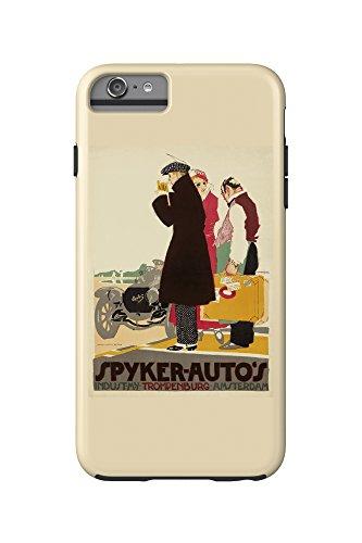 spyker-autos-vintage-poster-artist-van-der-hem-pieter-holland-c-1914-iphone-6-plus-cell-phone-case-c