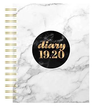 Collins Scandi 2019-2020 - Agenda (A5, día por página), diseño de mármol