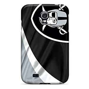 Anti-Scratch Hard Phone Covers For Samsung Galaxy S4 (jaX15275spel) Custom Stylish Oakland Raiders Series