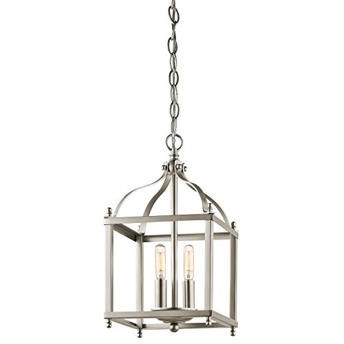 Kichler 42565NI Larkin Indoor Pendant 2-Light, Brushed Nickel