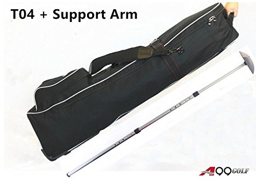 T04 Golf Travel Wheeled Bag + Support Arm for Travel Cover Stiff Arm Club Protector (Golf Bag Cover Roller Travel)