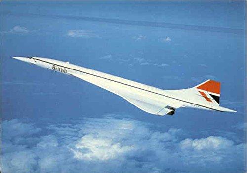 british-airways-concorde-aircraft-original-vintage-postcard