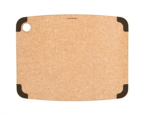 Epicurean Non-Slip Series Cutting Board, 14.5-Inch by 11.25-Inch, Natural/Brown