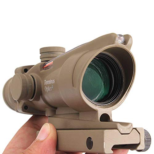 Terminus Optics Tan TOC1 Red True Fiber BDC Reticle 4x32 Magnification Rifle Scope Terminus LLC
