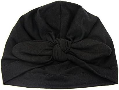 ベビーハット,Dabixx 生まれたばかりの赤ちゃん幼児キッズボーイガールちょう結びかわいいソフトコットンビーニーハット暖かい帽子 - ブラック