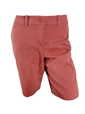 Tommy Hilfiger Womens Bermuda Chino Shorts (2, Weathered Red)