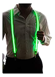 Neon Light Up LED Suspenders for Men