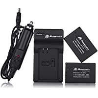 Powerextra 2 Pack Replacment Canon LP-E12 Battery and Charger for Canon EOS M EOS Rebel SL1 EOS 100D