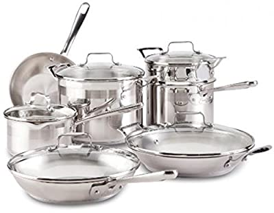 (Ship from USA) Emeril By All-Clad E884SC Chef's Stainless Steel Cookware Set, 12-Piece, Silver /ITEM NO#8Y-IFW81854254340