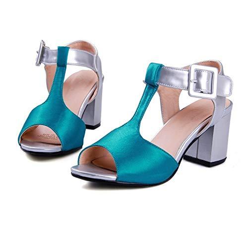 bleu HommesGLTX Talon Aiguille Talons Hauts Sandales Chaussures De Mode pour Femmes Compensées, Plus La Taille des Chaussures Femmes Sandales Style08