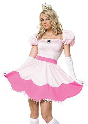 Super Mario Style Pink Princess Peaches Costume S (UK 8-10) by Struts Fancy Dress - Struts Costumes