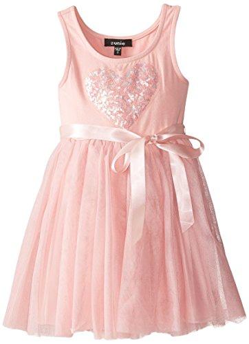 Zunie Little Girls' Sequin Heart Ballerina Dress, Blush, 6X (Dress Ballerina Heart)