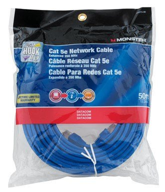 CABLE CAT-5E 50' BLUE by MONSTER JHIU MfrPartNo 140273-00
