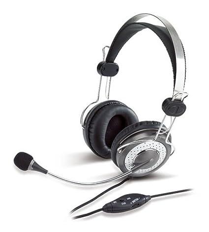 Genius HS-04SU - Auriculares de diadema abiertos (con micrófono y control remoto)
