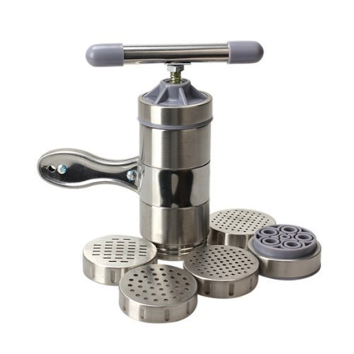 Stainless Steel Manual DIY Noodles Press Machine Fruit Juicer pasta maker machine with 5 Noodle Mould