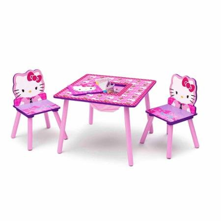 Hello Kitty Table and Chair Set with Storage (Table Hello Kitty)