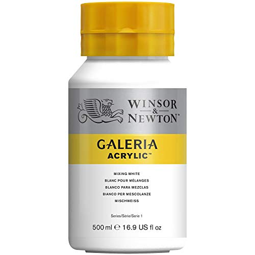 Winsor And Newton Galeria Acrylic Colour 500ml 415 Mixing White (pot) from Winsor & Newton