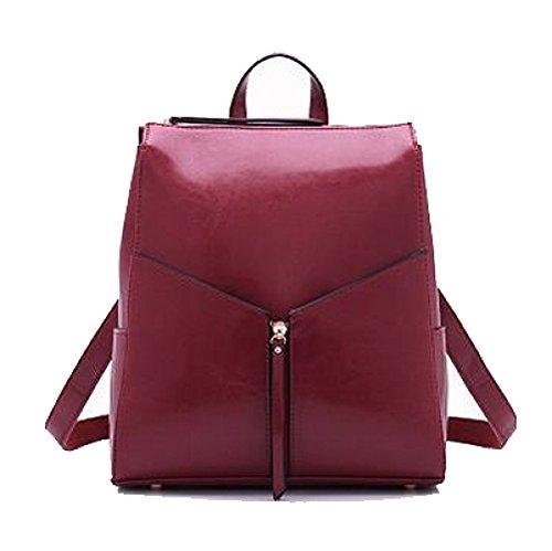 Shopping Simple AJLBT Coréen à Femme Couleur Sac Main à Voyager Sac Sac Mode Winered Dos Polyvalent Pour OPwOFrqU