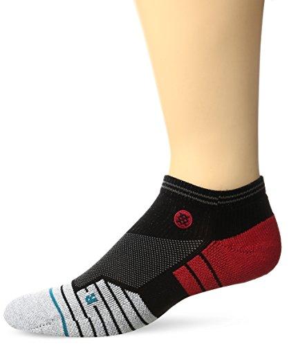 Stance Men's Pressure Low Ankle Sock, Black/Red, L