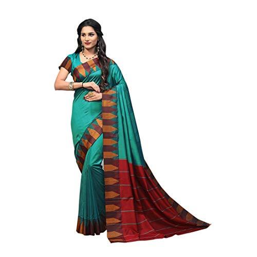 Craftsvilla Blue Silk Saree For Women PartyWear Saree Blouse Readymade