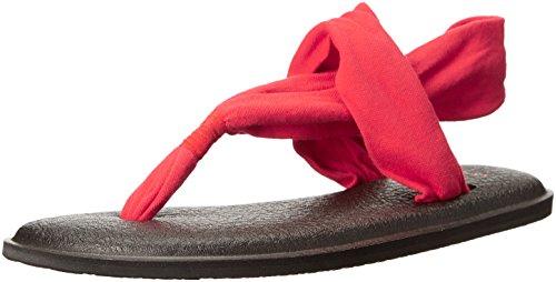 Sanuk Frauen Yoga Sling 2 Flip Flop Hellrot