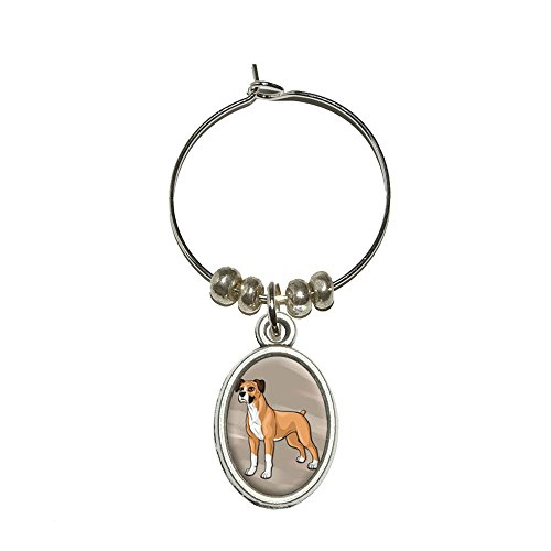 Boxer Glass Charm Drink Marker