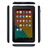 Haehne 7 Inches Tablet PC - Google Android 6.0 Quad Core, 1024 x 600 Screen, 2.0MP 0.3MP Dual Camera, 1G RAM 16GB ROM, 2800mAh, WiFi, Bluetooth (Black)