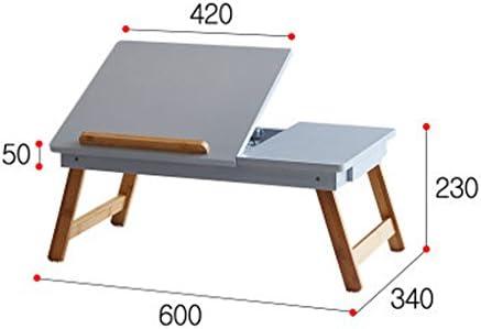 HYLR Escritorio para Laptop Mesa Plegable para Dormitorio ...