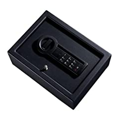Great security for pistols, ammo and valuables at home, on the road or in the office. Solid steel, pry resistant, plate steel doors, steel live action locking bolts and concealed hinges provide greater security. The electronic lock includes a...