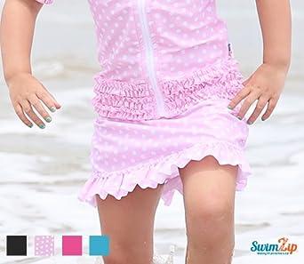 SwimZip Little Girl Swim Skirt Cover-Up with SPF 50+