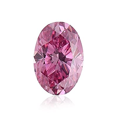 0.43 Carat Argyle Fancy Vivid Purplish Pink Loose Diamond Natural Color Oval GIA
