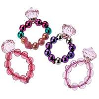 Docena diseños surtidos elásticos anillos de princesa joya