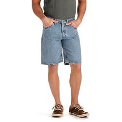Lee Men's Regular Fit Denim Short, Light Stone, 31