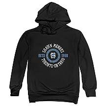 JeFFCA Men's Shawn Mendes Long Sleeve Sweatshirt Hoodies Black Medium (US Size)