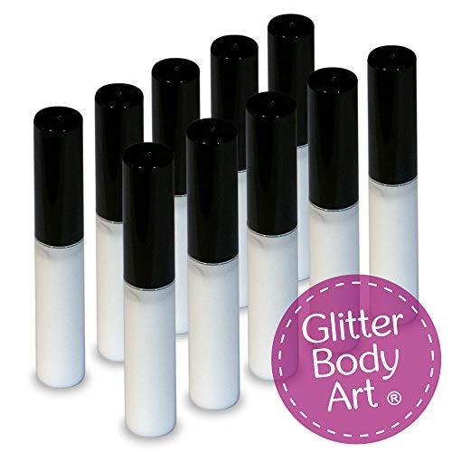 10 x 4ml Cosmetic Body Glue – Perfect for Glitter Tattoos – Hypoallergenic