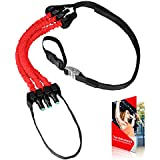 AmazeFan Pull Up Assist Band System - High-Performance Pull up & Chin up Assist Bands - Resistance Bands - Elastic Assistance for Women & Men - Full Body Workout Programs